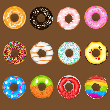 donut: Donuts Collection Set Illustration