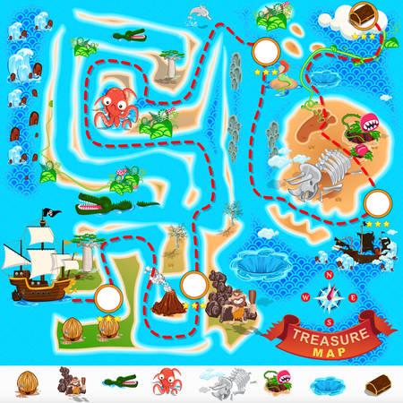 Pirate Treasure Map Vector