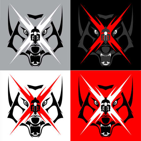 Tribal Coyote Wolf Emblem Tattoo