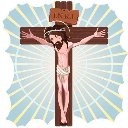 イエス ・ キリストのはりつけ  イラスト・ベクター素材