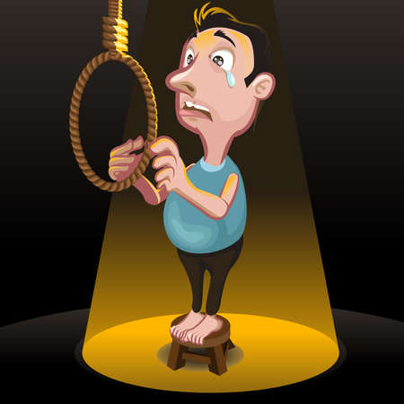 punishment: male committing suicide, by hanging, having stress problems Killing Punishment