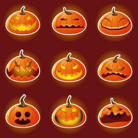 smirk: Halloween Pumpkin Character Emoticon Icons
