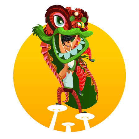 dragon year: Chinese New Year Lion Dance