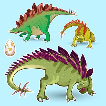 ステゴサウルス恐竜ステッカー コレクション セット