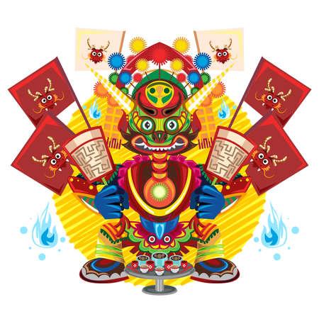 空腹の幽霊祭、その食べ物や飲み物を受信するすべての幽霊を許可する中国のお祝い 写真素材 - 44172233