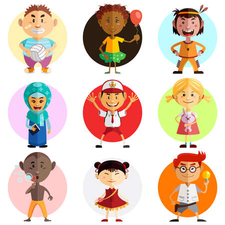 family clip art: Happy Childrens Day Illustration  Illustration Of Children Around The World Celebrate World Childrens Day