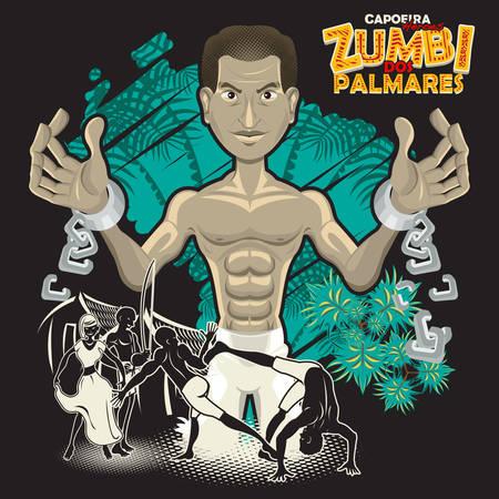 カポエイラ英雄 Zumbi Dos パルマレスの格闘技、カポエイラを使用して Zumbi Dos パルマール ブラジルの隷属の間に生まれる彼の自由を得る