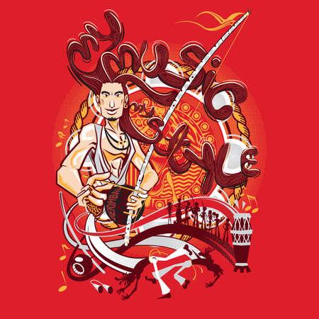 ブラジルの武道カポエイラ音楽私のスタイル