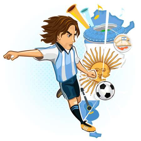 アルゼンチン アルゼンチン サッカー カップ アルゼンチン サッカー プレーヤー キック ボール マップの背景とアルゼンチンの文化