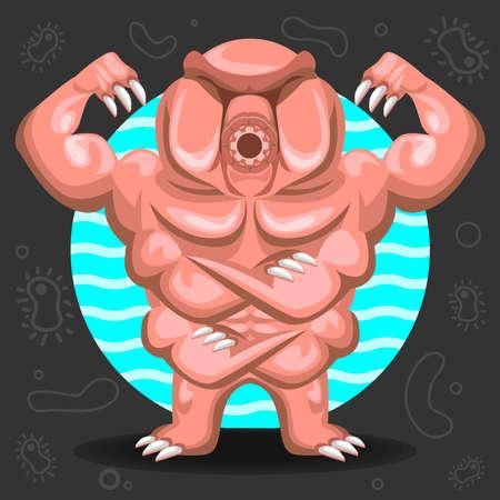 tough: Tardigrade Water Bear illustration Illustration