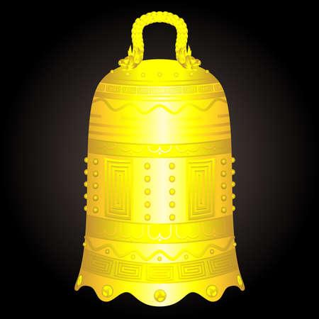 中国黄金の鐘アーティファクト ベクトル図