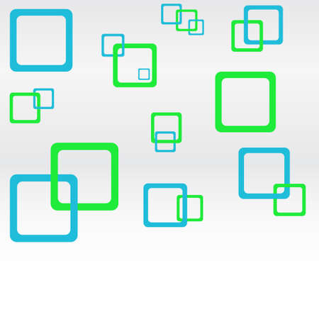 round corner: abstract background with blue and green round corner squares. vector illustration