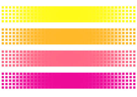 attenuation: colorful banners with transparent shapes. vector illustration