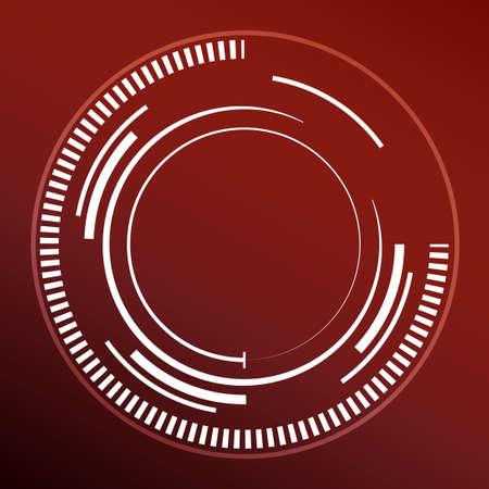 rojo oscuro: Fondo abstracto de color rojo oscuro con los c�rculos blancos. ilustraci�n vectorial