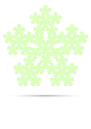 pentagon: abstract pentagon light green shape. vector illustration Illustration