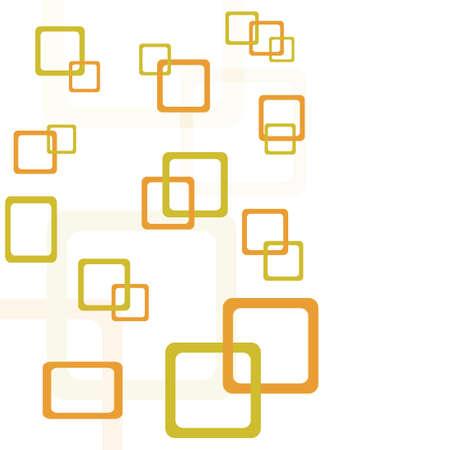 round corner: abstract background with yellow and orange round corner squares. vector illustration