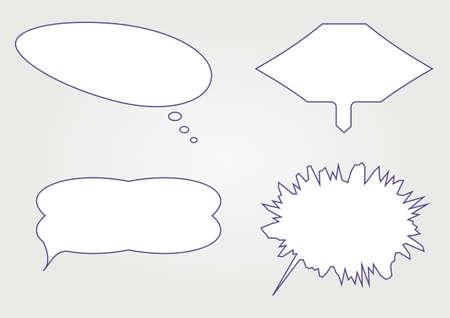 different shapes simple white speech bubbles. vector illustration Vector