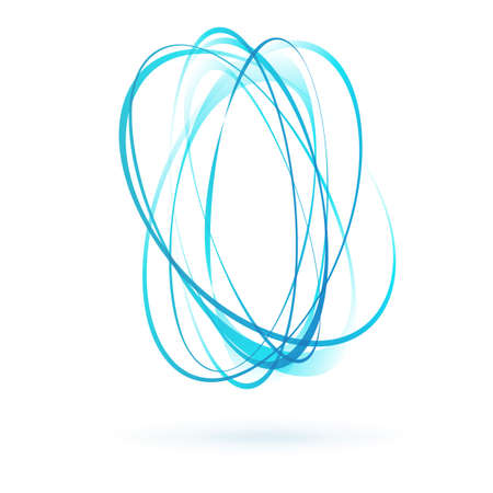 light blue: light blue swirl wind moving circle element. vector illustration