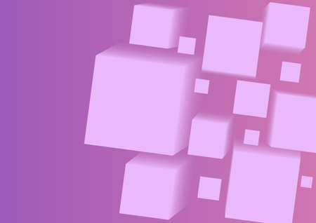 sloping: sloping purple fading three-dimensional square blanks. vector illustration