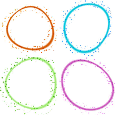 deformed: abstract slightly deformed colorful glowing whirl rings. vector illustration Illustration