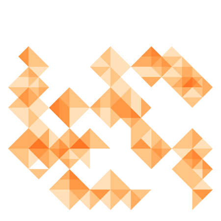 sectors: abstract geometrical background with bright orange square rhombus segments and sectors. vector illustration Illustration
