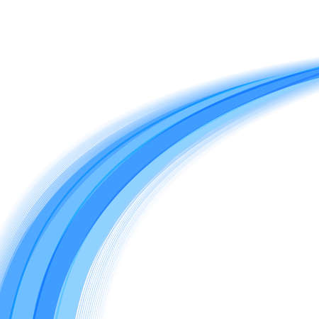 flexure: bright blue motion lines template abstract background. vector illustration