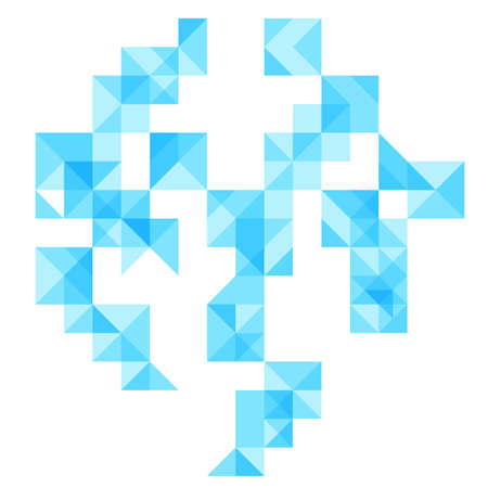 sectors: abstract geometrical background with bright blue square rhombus segments and sectors. vector illustration Illustration