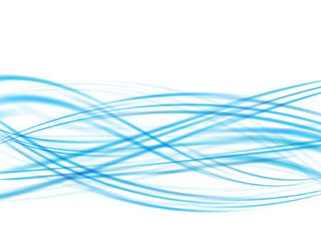 obscure: azules turquesas brumosas abstracto olas swoosh obscuras flotante. ilustraci�n vectorial