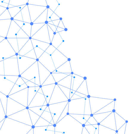 complex: abstract networking blue modern complex web connect. vector illustration