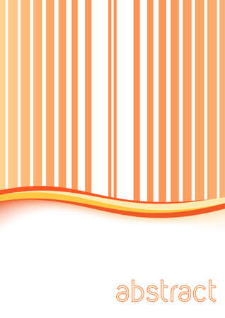 abstract smooth orange peach background folder with gentle swoosh wave. vector illustration