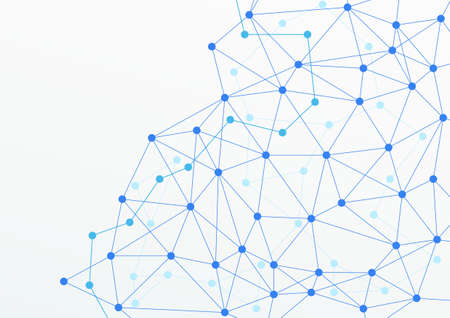 layered: blue abstract layered networking web horizontal background. vector illustration Illustration