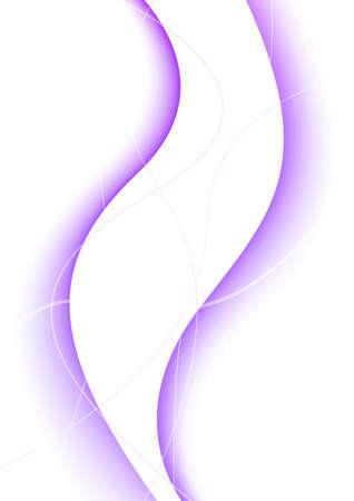 flexure: floating violet curves forming light abstract background. vector illustration