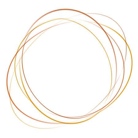 orange, gelb, abstrakten Wirbel Tornado von bewegten Kreisen. Vektor-Illustration