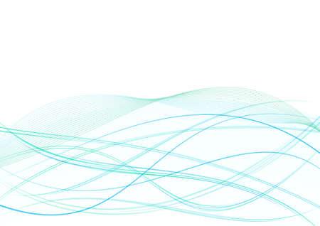 flexure: bright turquoise floating elegant swoosh wave background. vector illustration Illustration