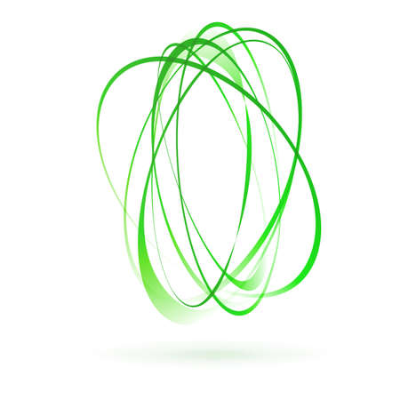 green swirl: light green swirl wind moving circle element. vector illustration