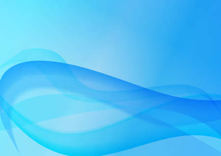 abstract background with soft blue tentacle-like sea swoosh waves. vector illustration Illustration