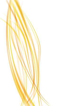 light orange swoosh waves template abstract background. vector illustration
