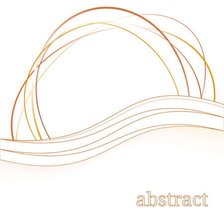 brown swirl: abstract background with swoosh wave folder orange brown swirl tornado. vector illustration Illustration