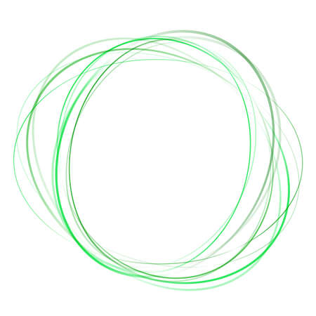 green swirl: soft green abstract swirl tornado of moving circles. vector illustration