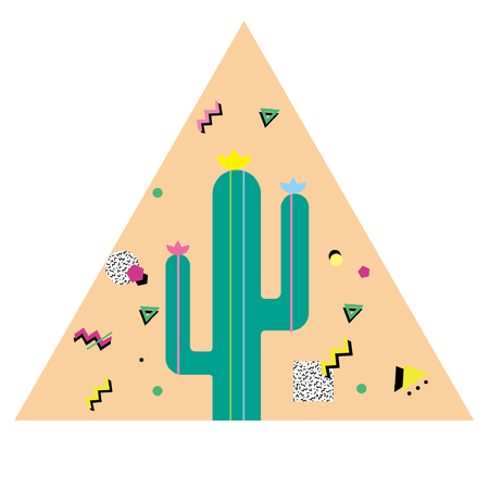 spanish food: Cactus Illustration