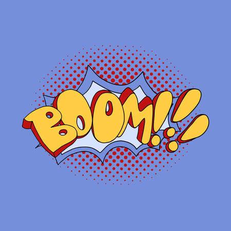Comic speech bubble boom pop art. Vector illustration. EPS 10.