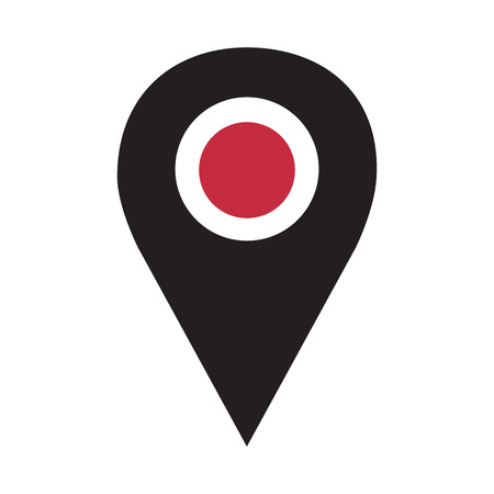 Vector icon pin search map isolated