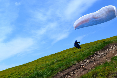 Parachute skydiving photo image photo Stock Photo