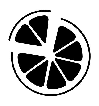Orange  icon vector illustration isolated on white background  イラスト・ベクター素材