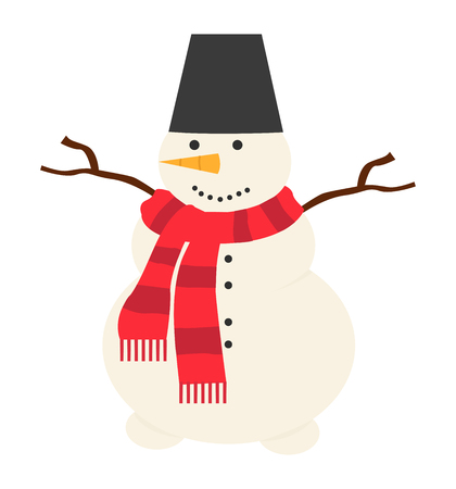 Snowman vector icon christmas illustration on white background eps 10  イラスト・ベクター素材