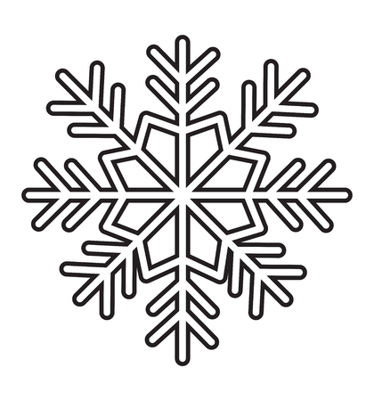 Outline snowflake icon isolated on white background vector illustration eps 10