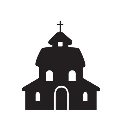 Ilustración de vector de icono de iglesia aislado en blanco eps 10 Ilustración de vector