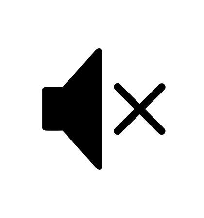 Stummschaltung des Lautsprechers Lautstärke Wiedergabe Symbol Vektor-Illustration isoliert auf weißem eps 10