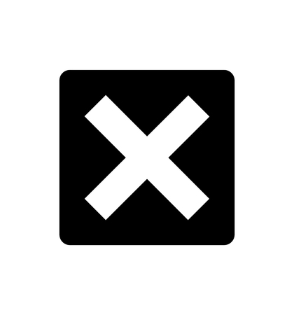 Cross check mark icon isolated on white