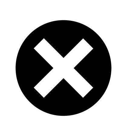Cross sign X icon isolated on white background circle symbol 向量圖像